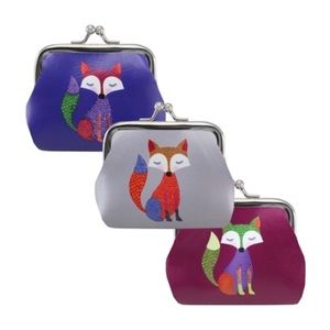 NEW! Faux Leather Foxy Lady Coin Purse